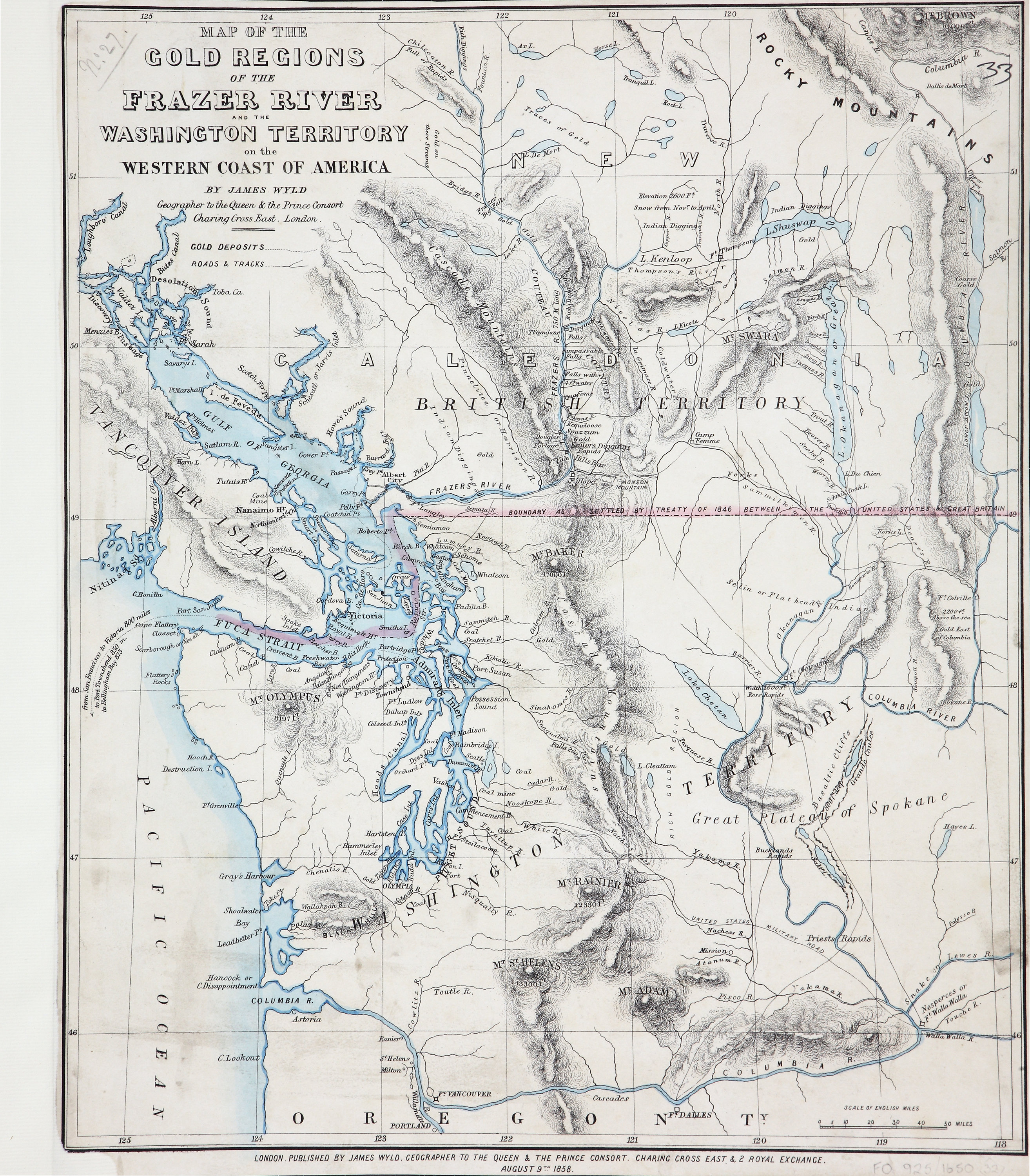 San Juan Water Boundary (Arbitration) : list of maps sent to Admiral Prevost at Berlin on the 12th June 1872 [map 32]