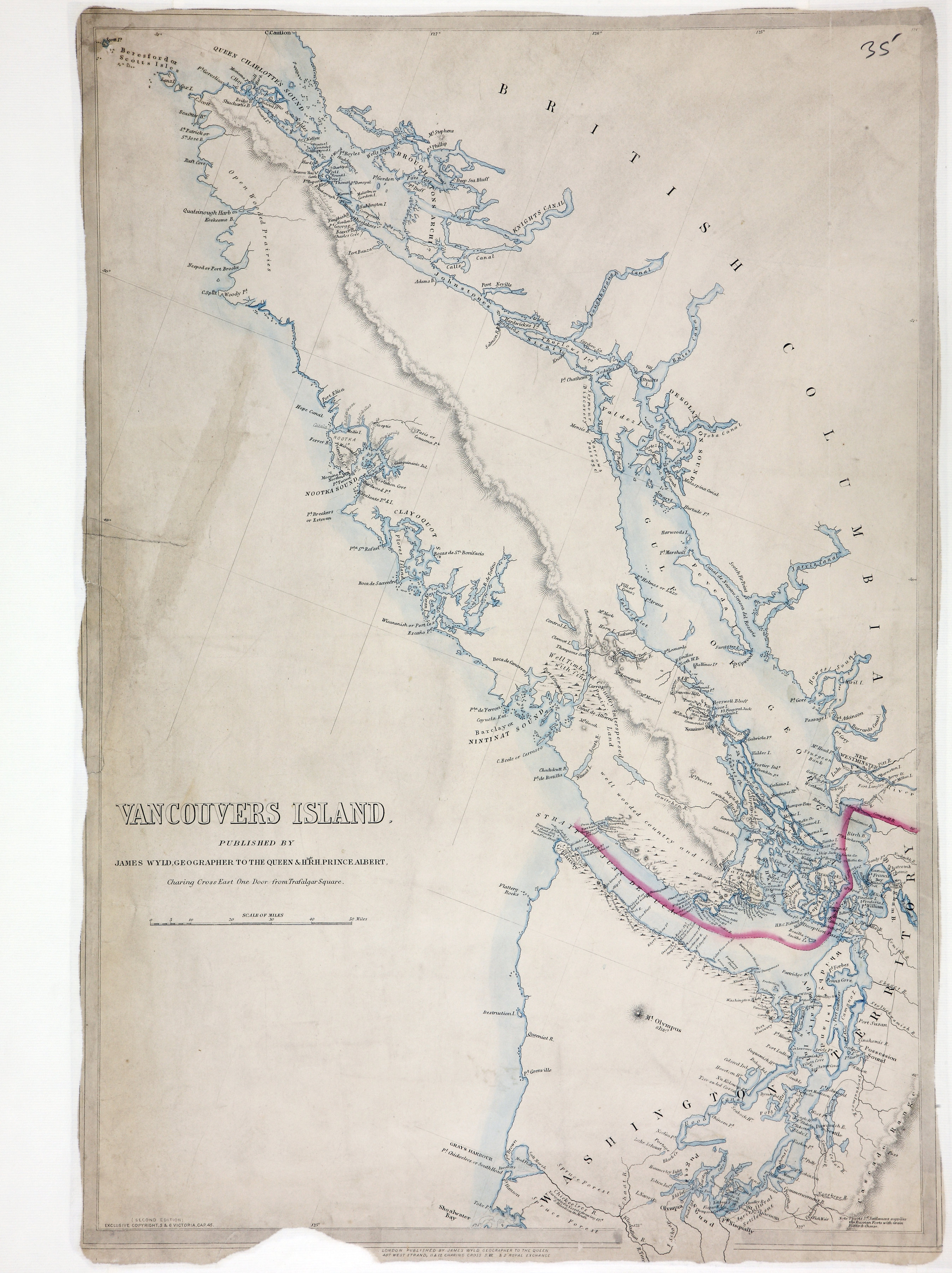 San Juan Water Boundary (Arbitration) : list of maps sent to Admiral Prevost at Berlin on the 12th June 1872 [map 34]