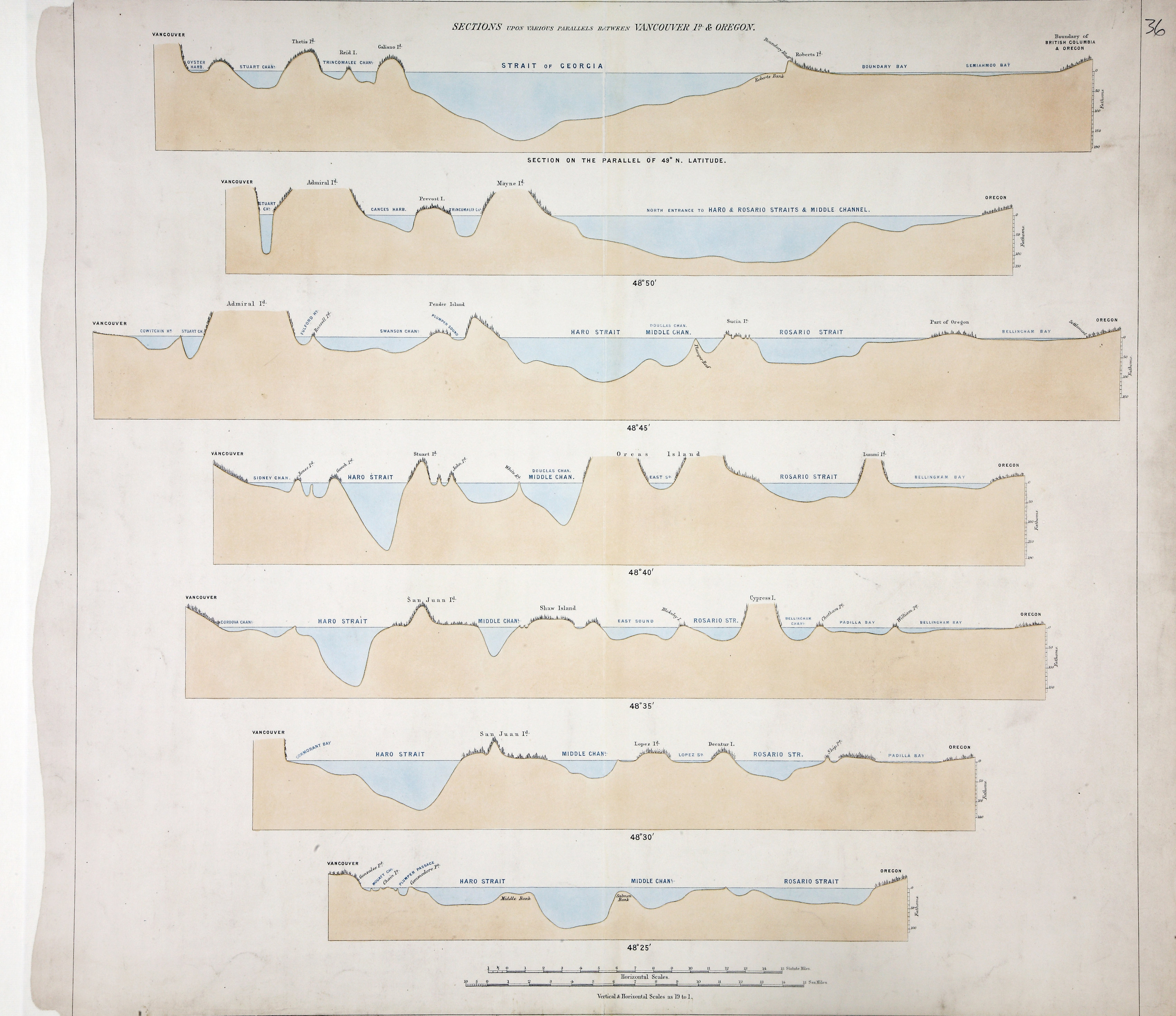 San Juan Water Boundary (Arbitration) : list of maps sent to Admiral Prevost at Berlin on the 12th June 1872 [map 35]