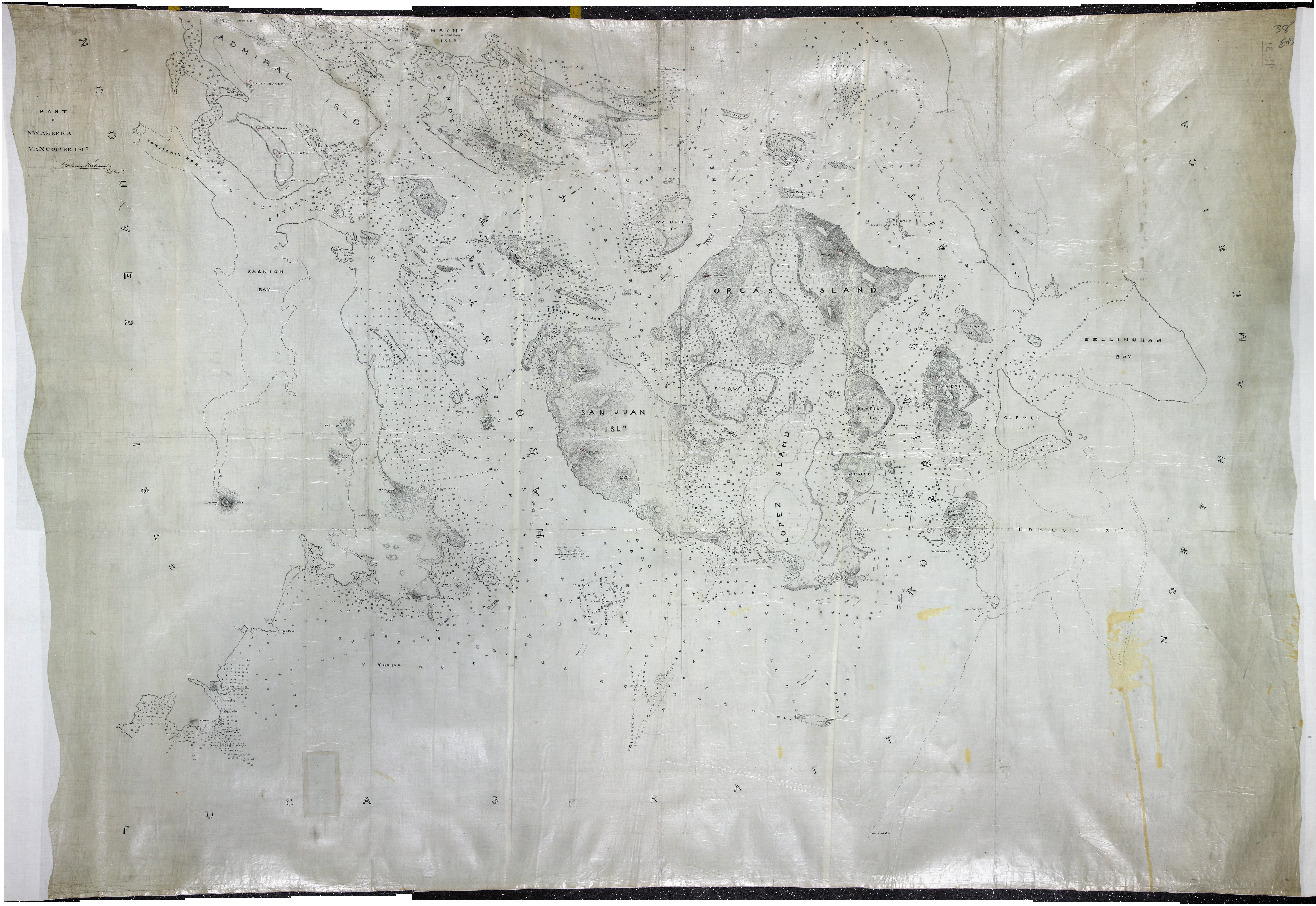 San Juan Water Boundary (Arbitration) : list of maps sent to Admiral Prevost at Berlin on the 12th June 1872 [map 37]