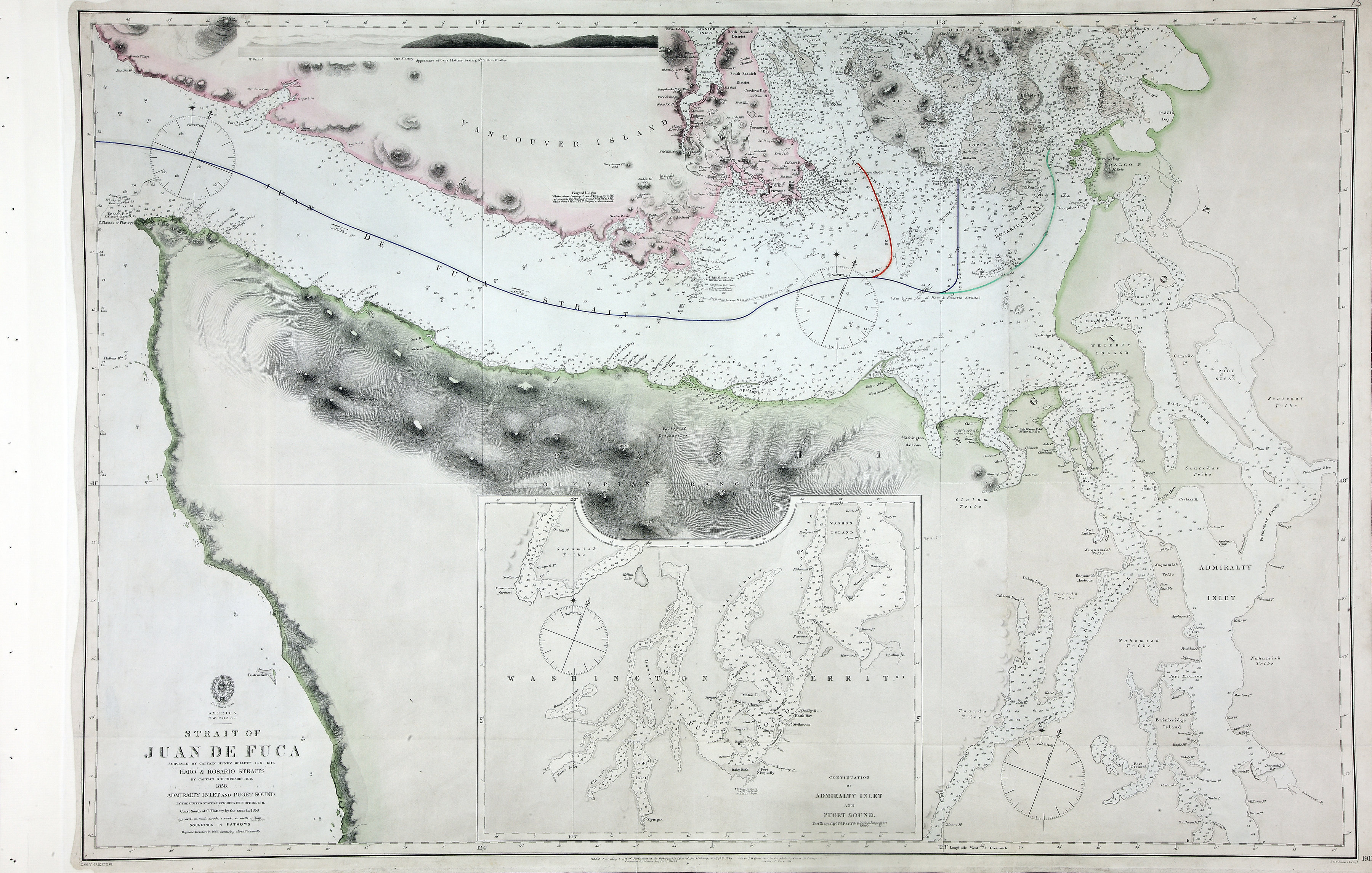 San Juan Water Boundary (Arbitration) : list of maps sent to Admiral Prevost at Berlin on the 12th June 1872 [map 39]