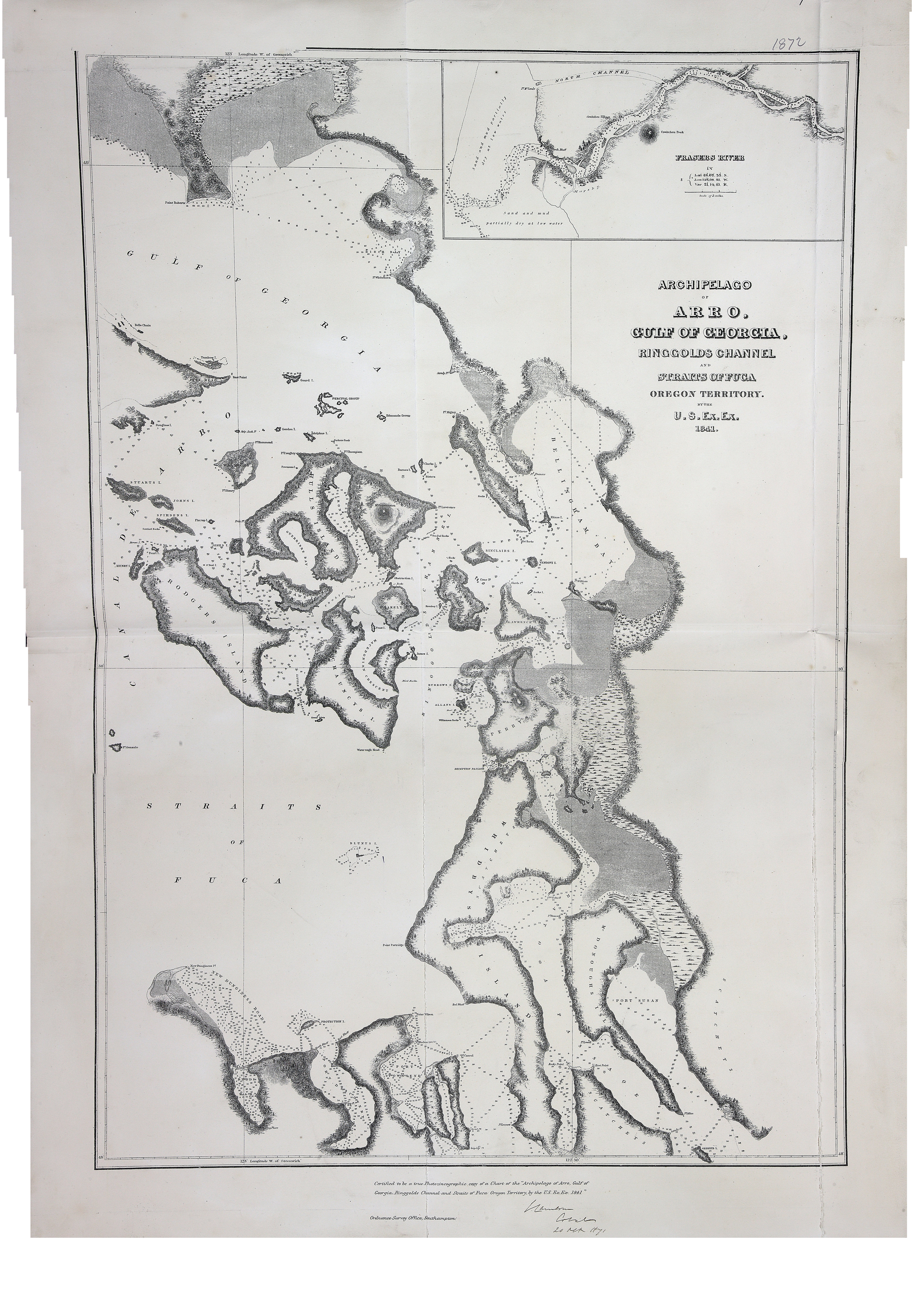 The colonial despatches map gallery archipelago of arro gulf of georgia ringgolds channel and straits of fuca oregon territory publicscrutiny Image collections