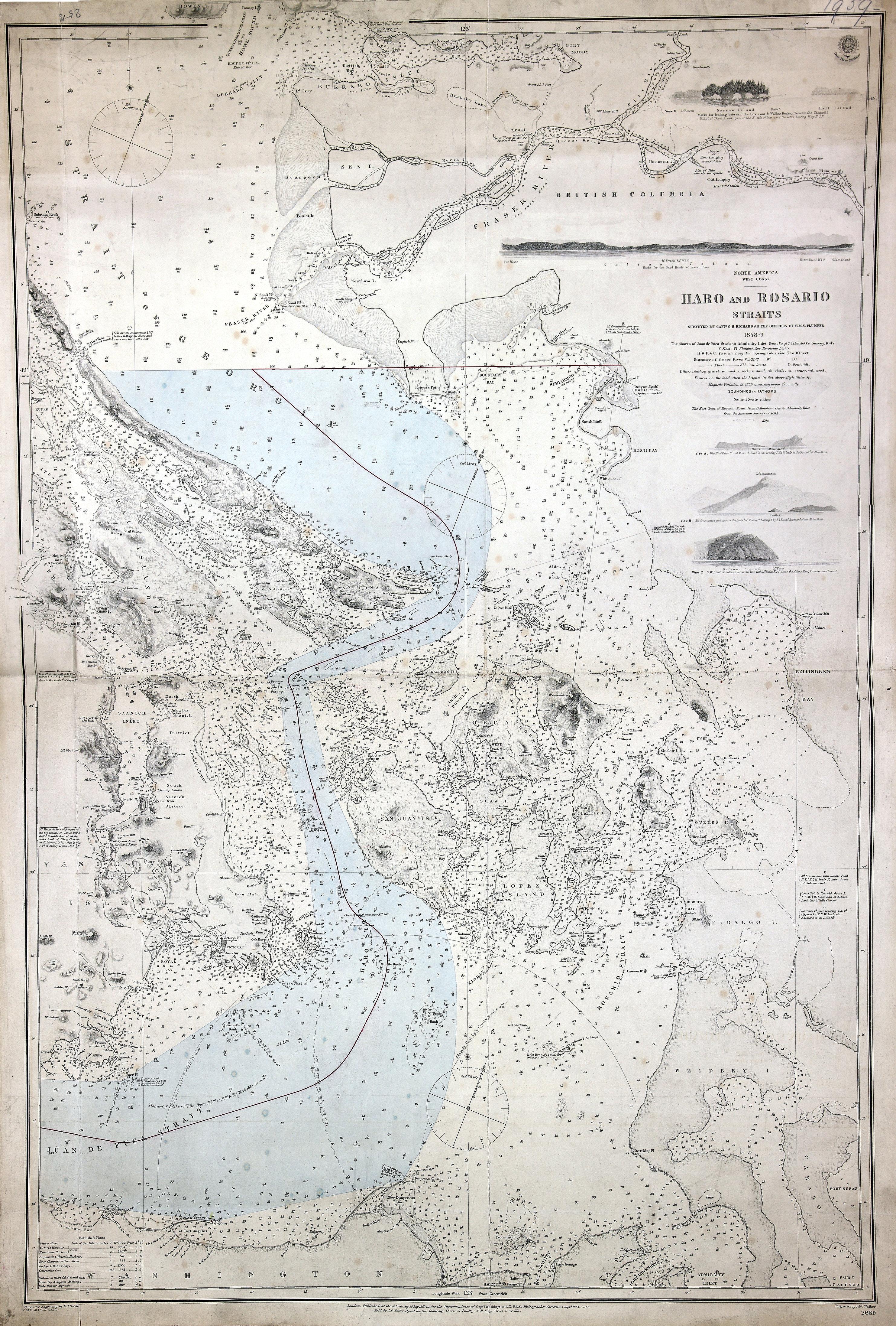 Haro and Rosario Straits.