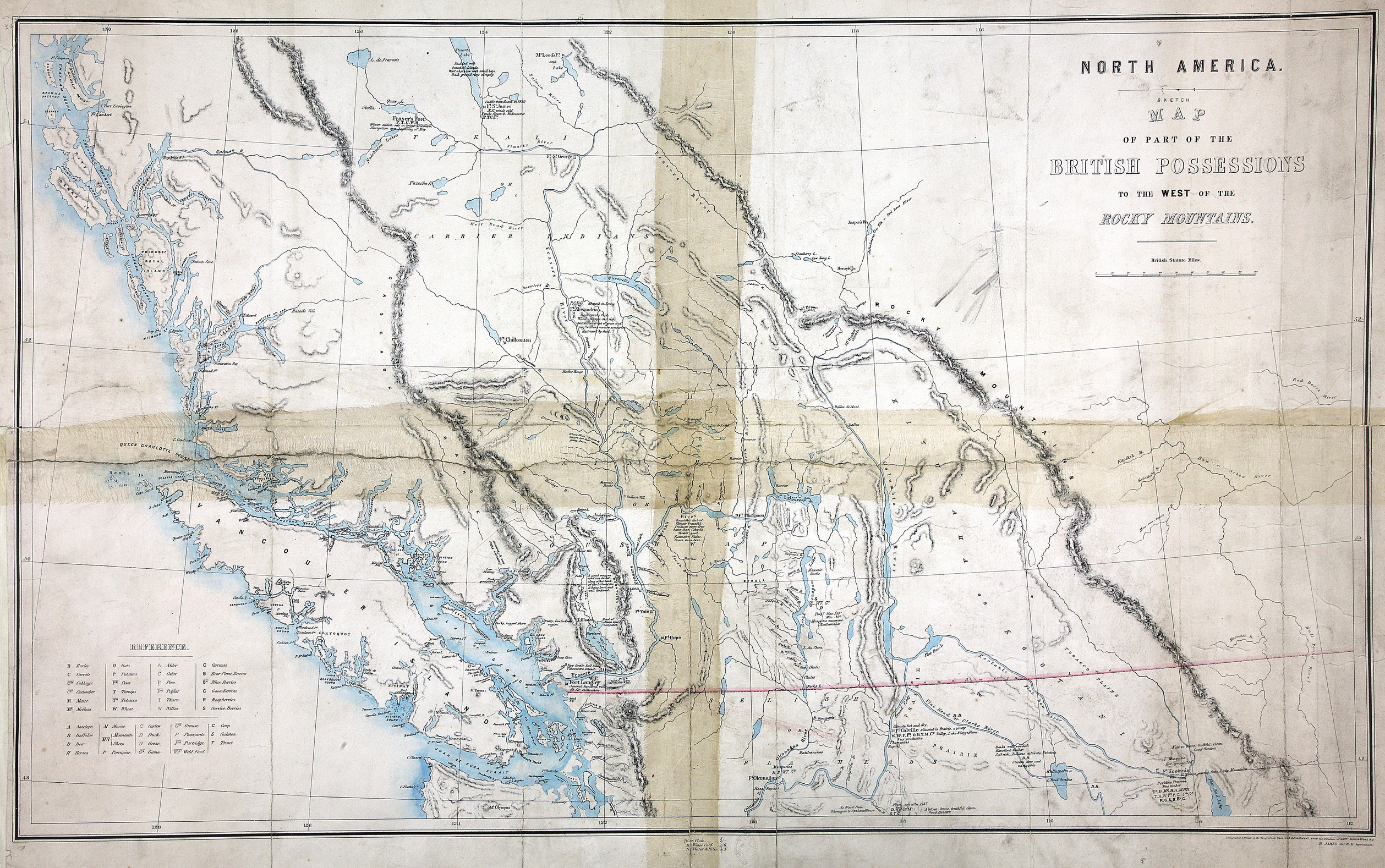 Sketch map of part of the British possessions to the west of the Rocky Mountains.