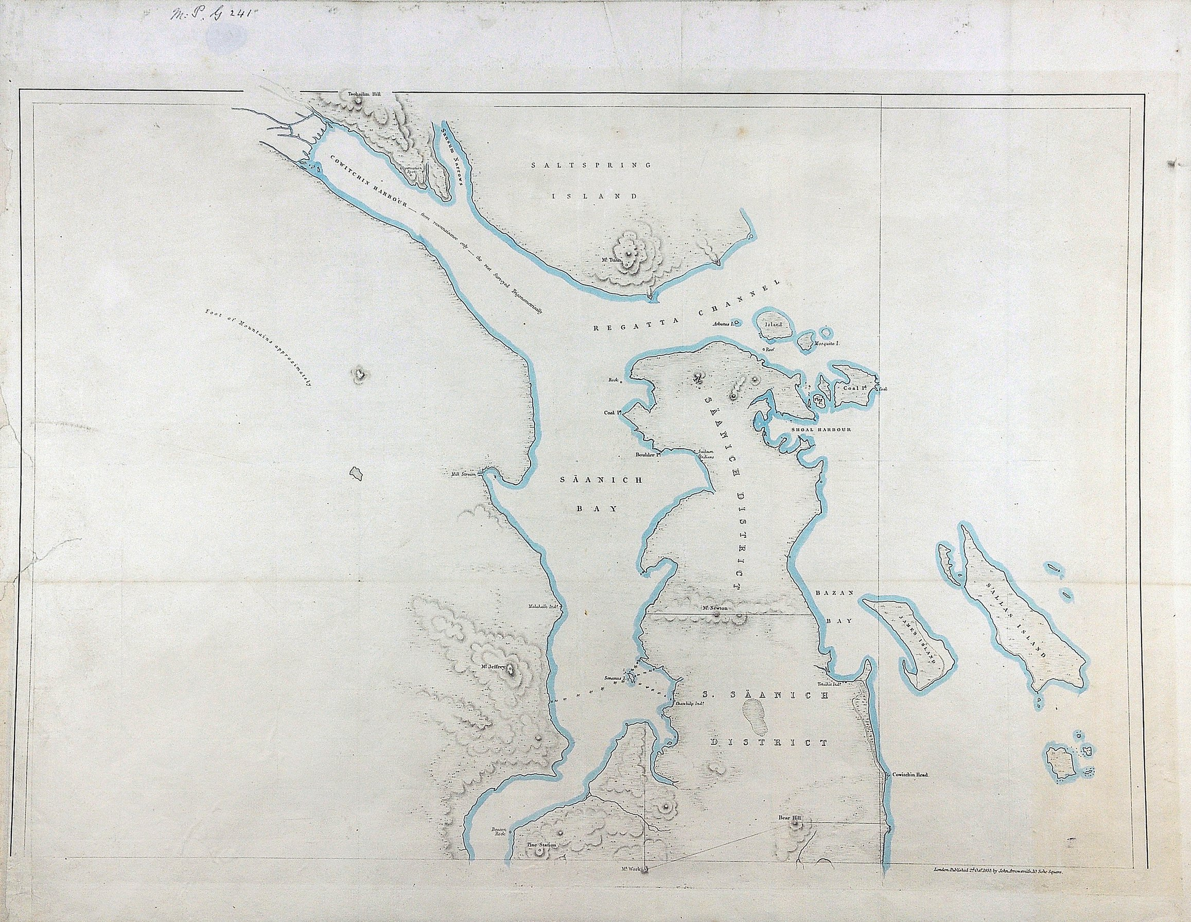 Saanich District [and] South Saanich District, 1855.