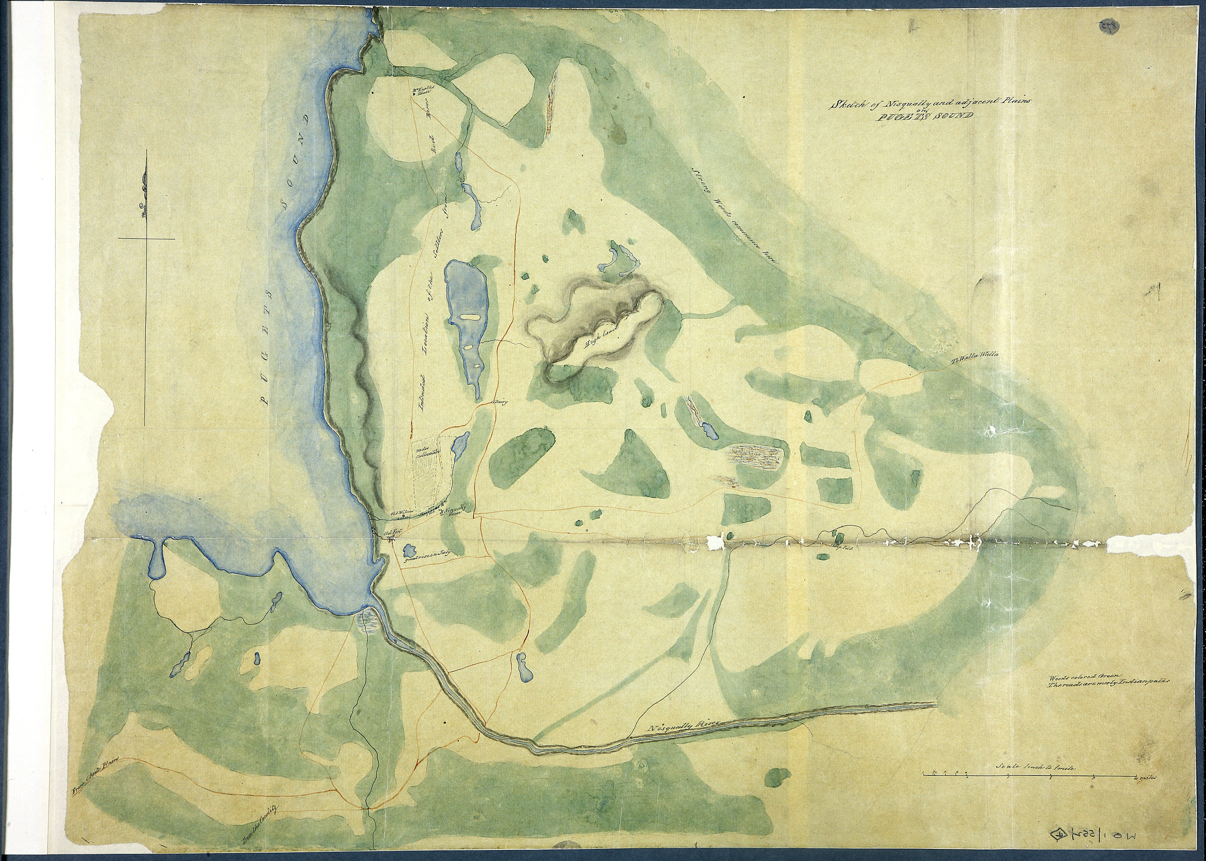 Sketch of Nisqually and adjacent Plains on Puget's Sound.