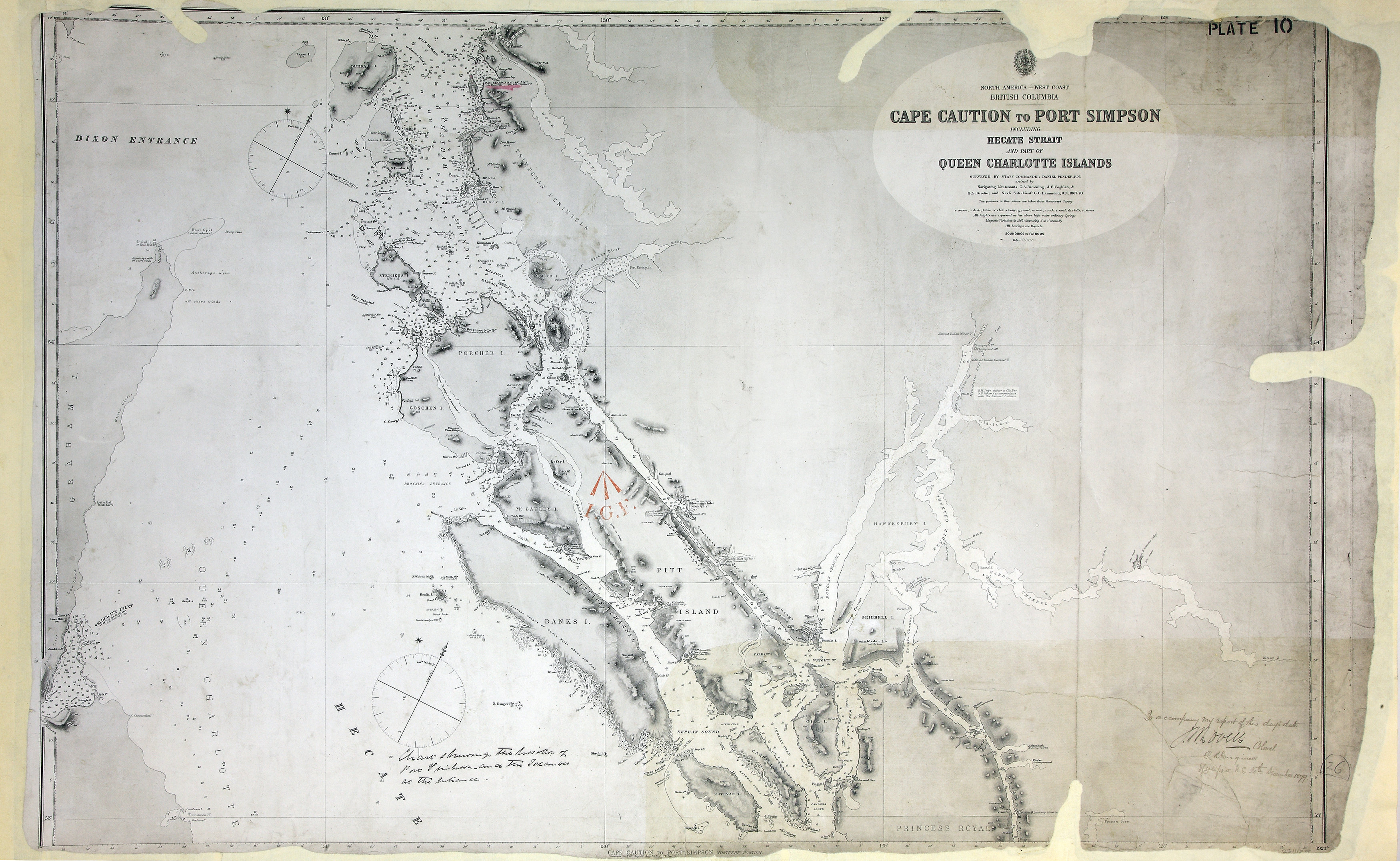 Queen Charlotte Islands Map on