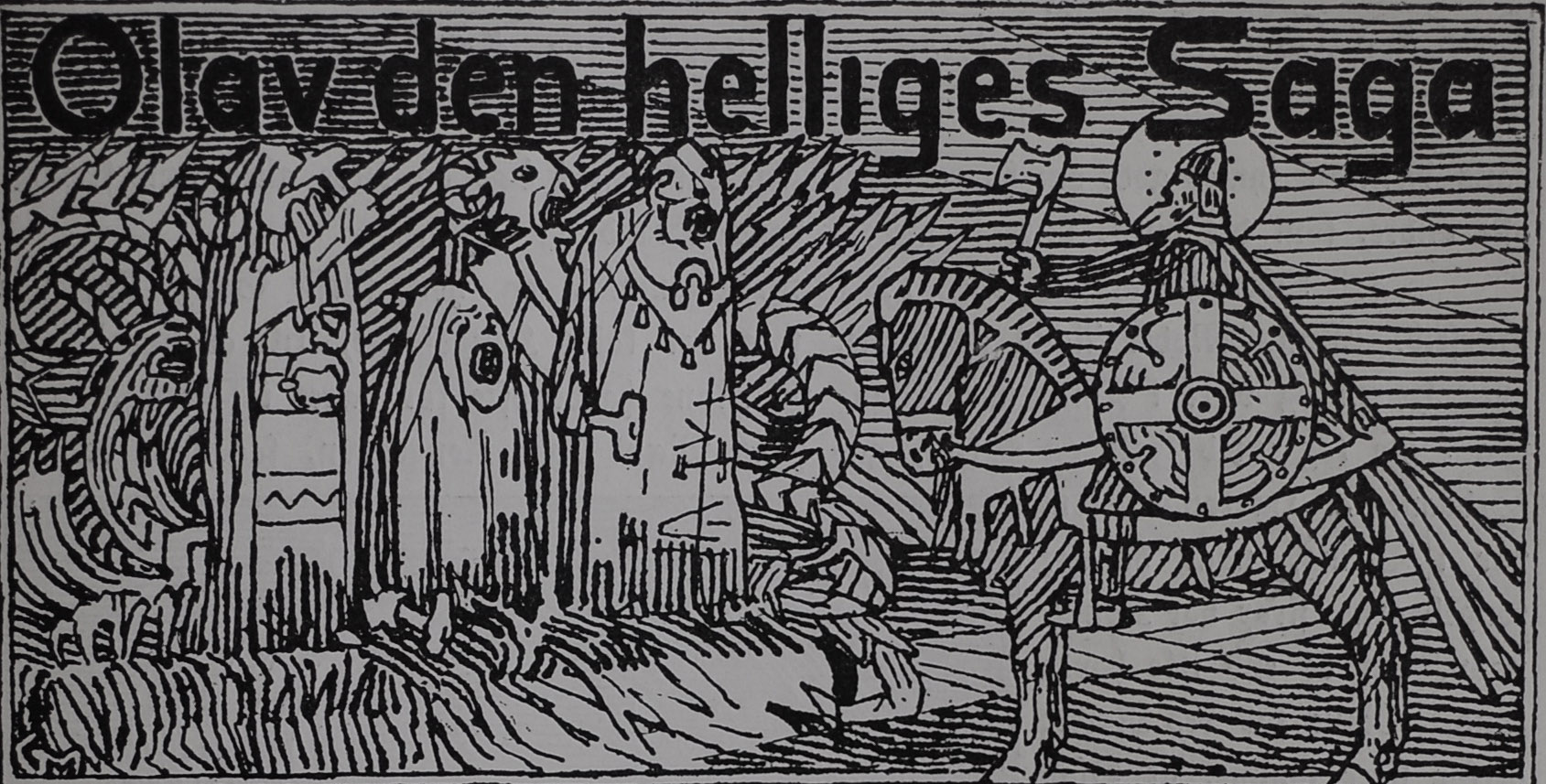 Illustrated Title Header for Saint Ólafr´s Saga