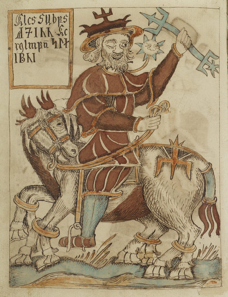 Óðinn Riding Sleipnir