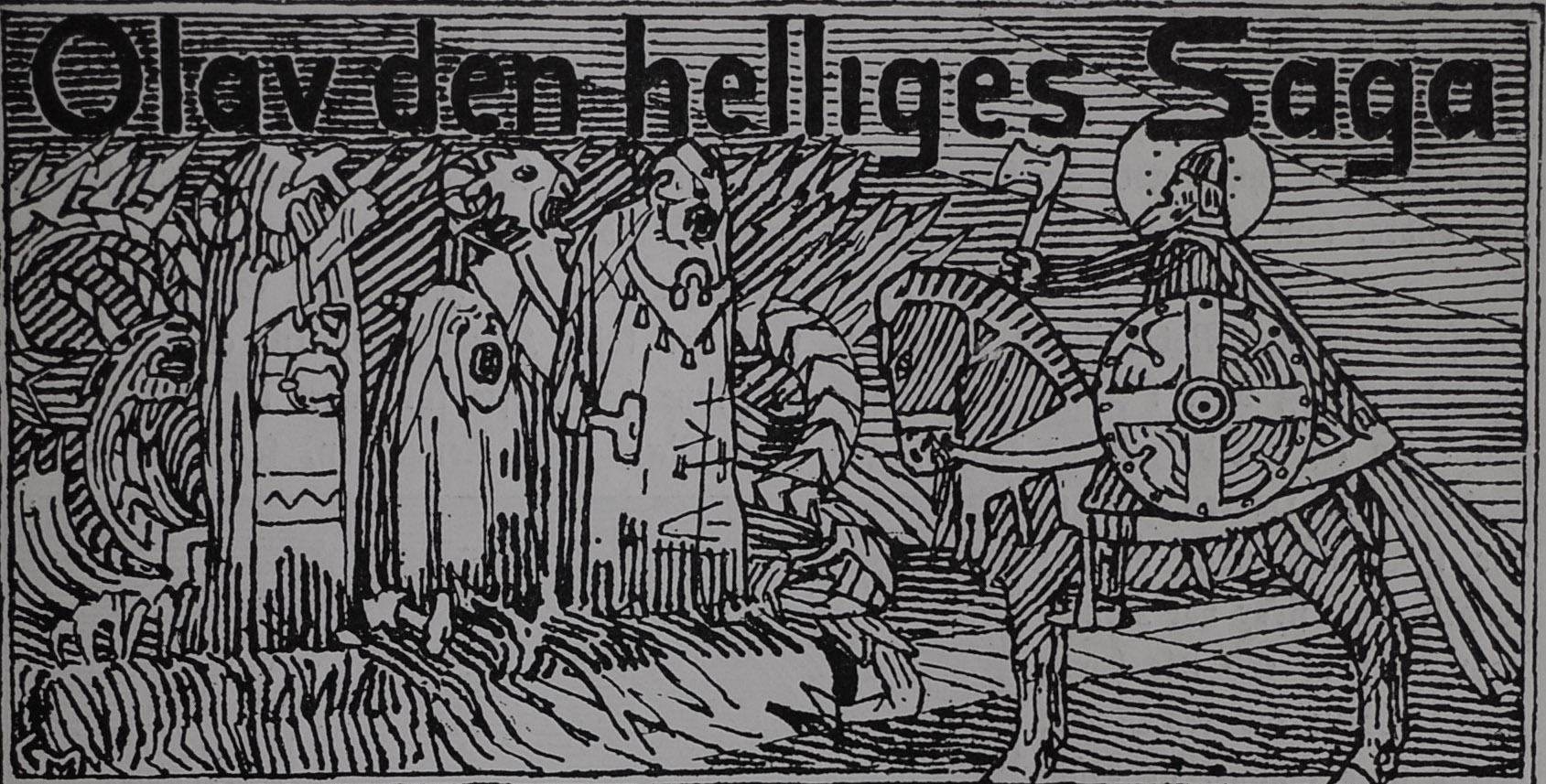 Illustrated Title Header for Saint Ólafr´s Saga