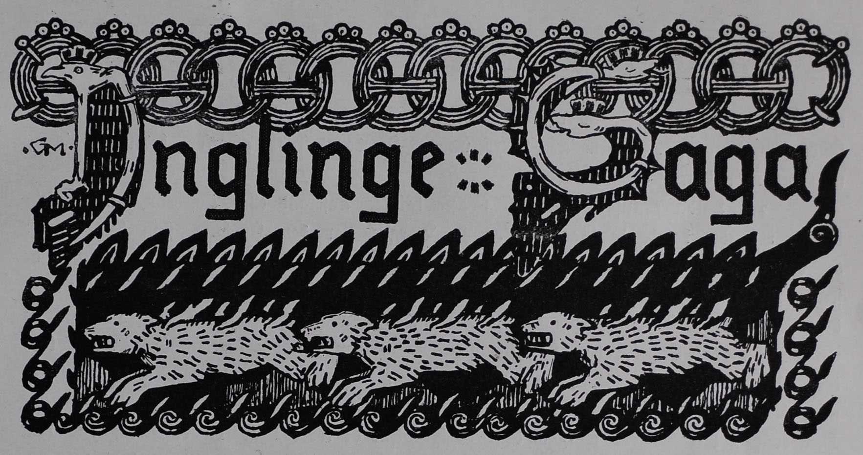 Illustrated Title Header for The                                     Saga of the Ynglings