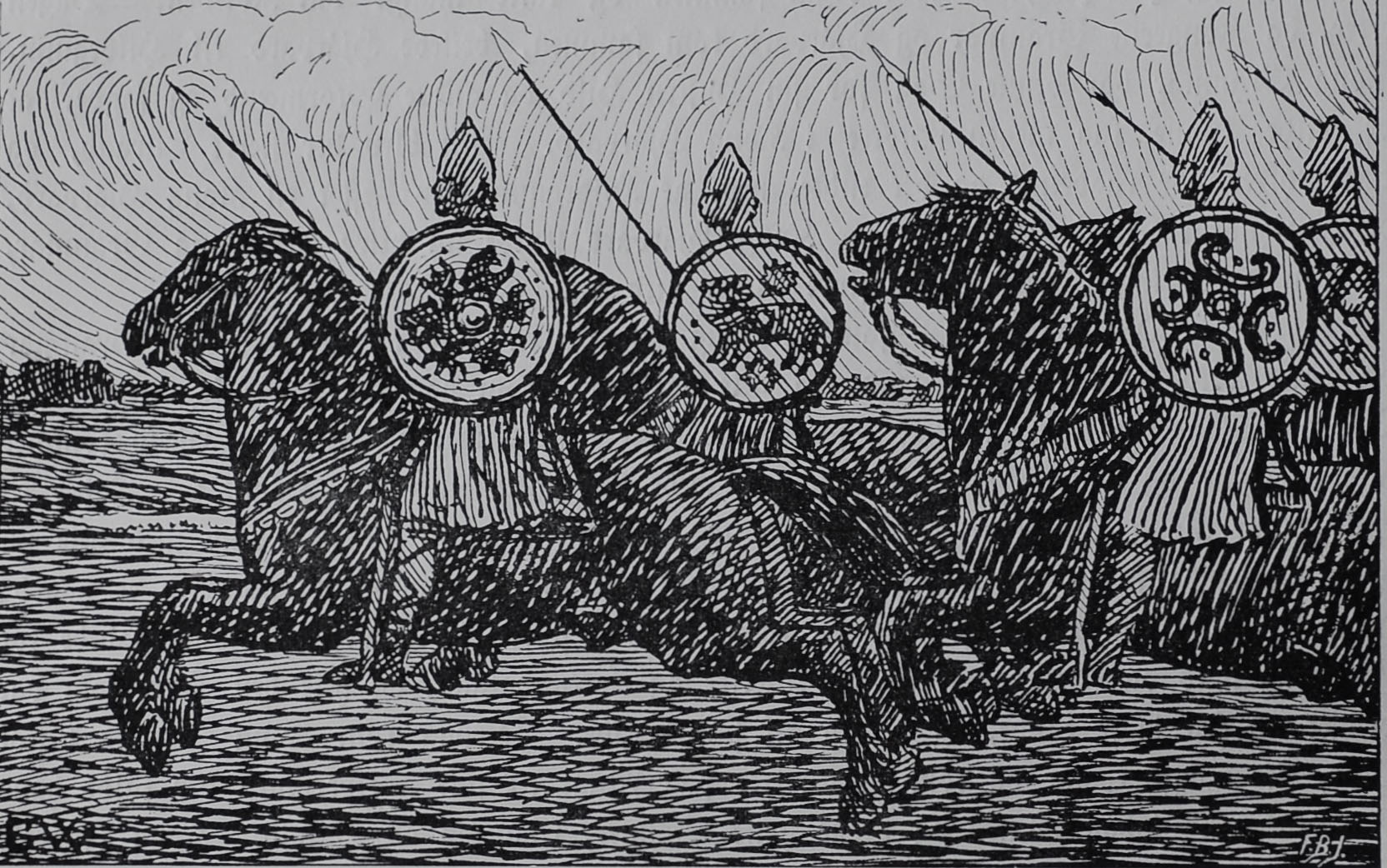 King Högni and His Men Riding into Sweden