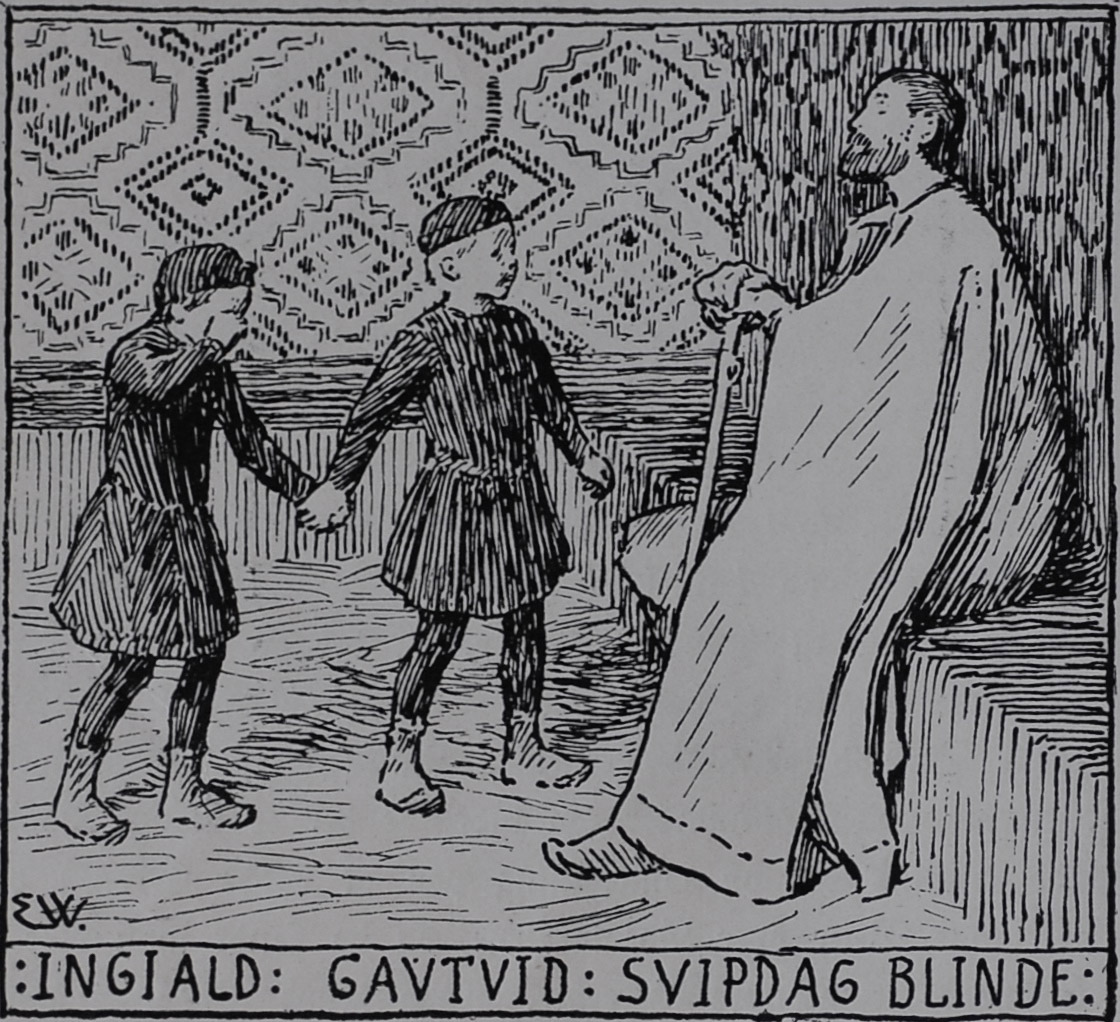 Gautviðr Taking Ingjaldr to see Svipdagr                                 Blinda