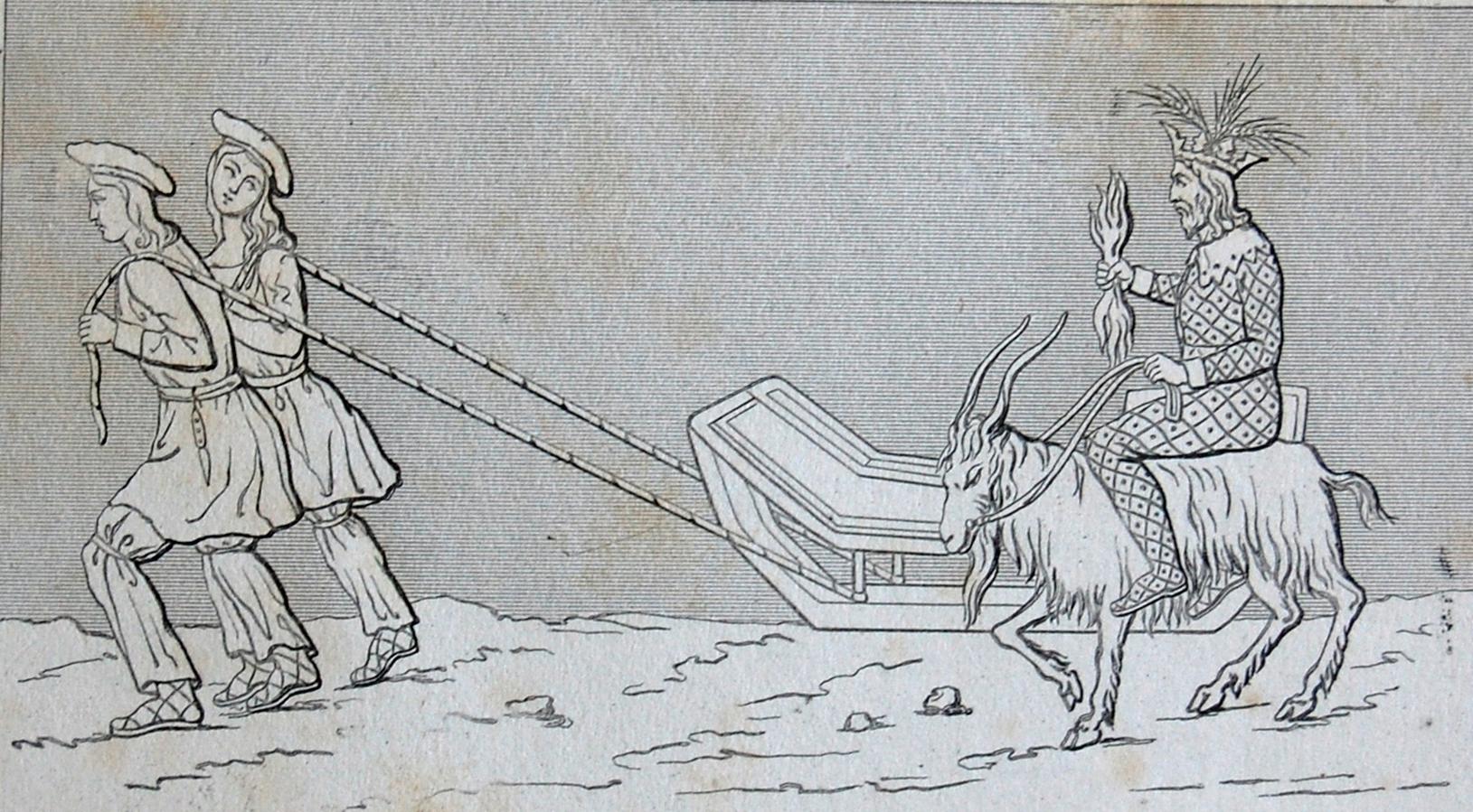 Þórr Riding a Goat