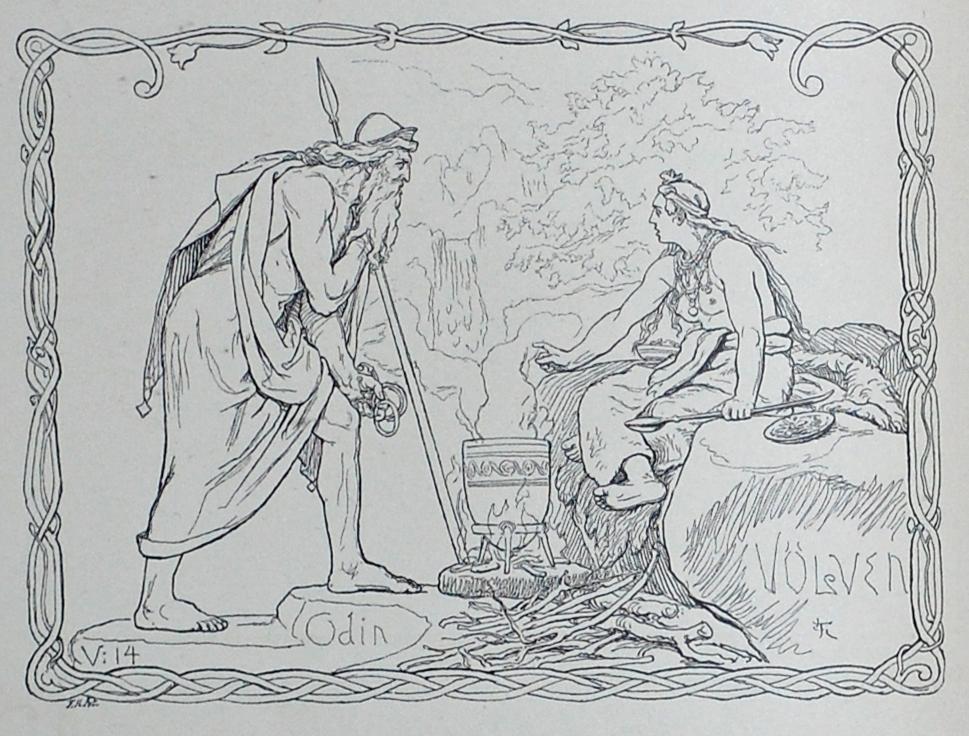 Oðinn Consulting the Seeress