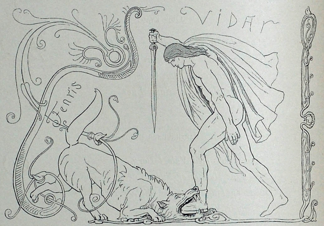 Víðarr Slaying Fenrir