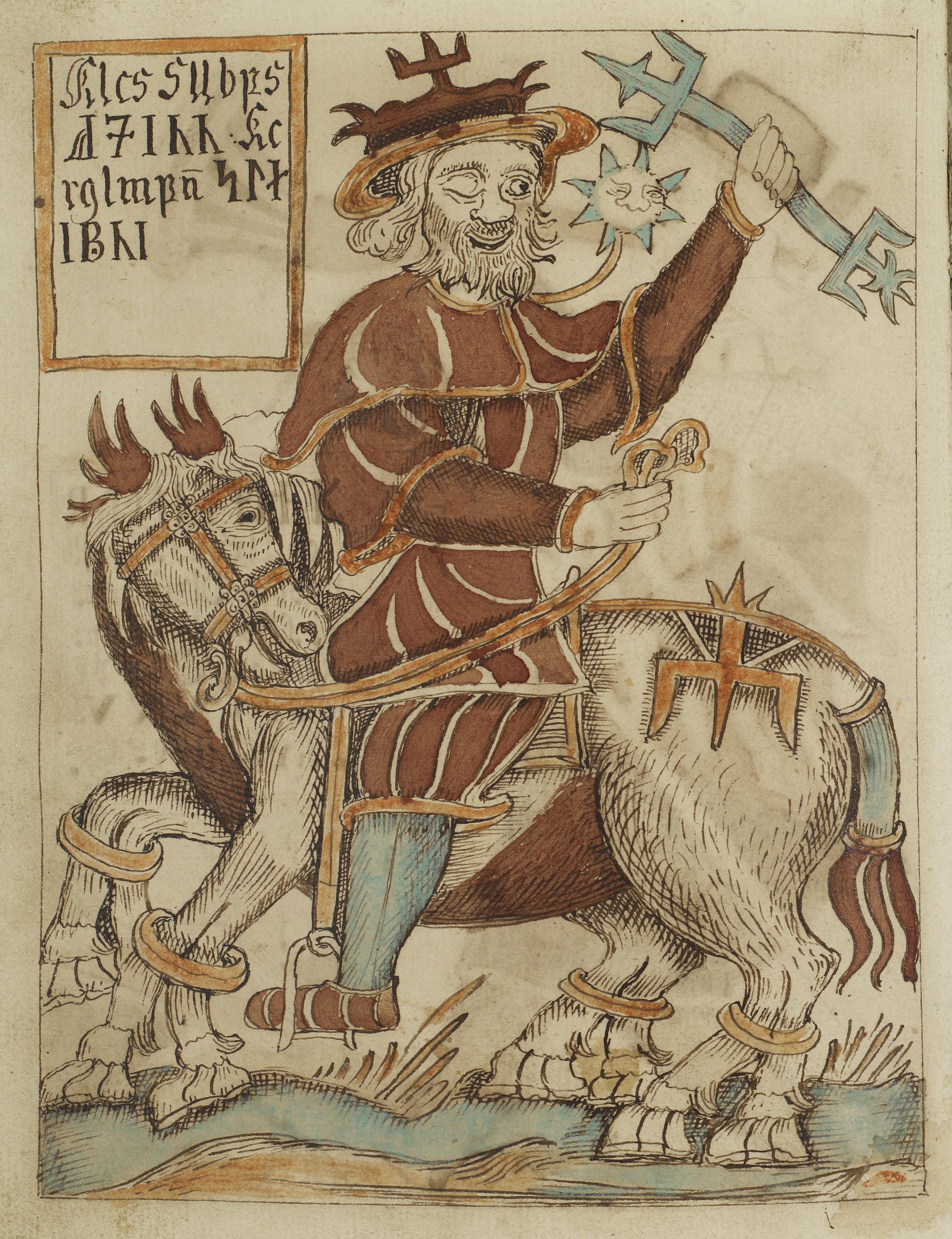 Óðinn Riding Sleipnir