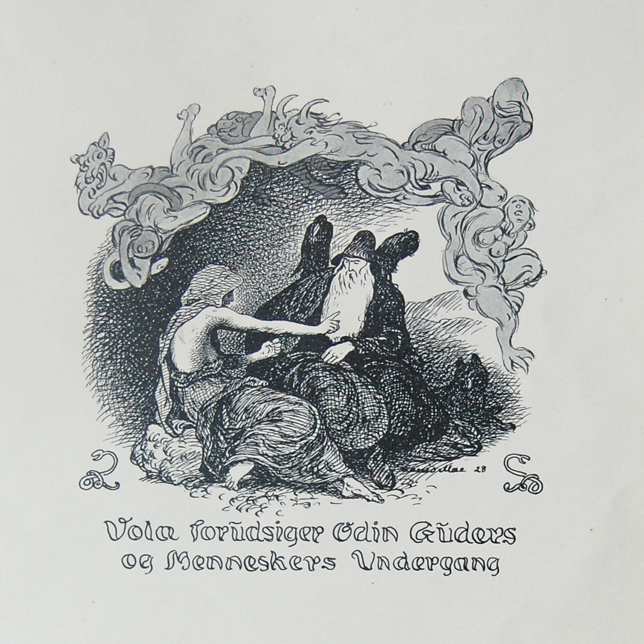 Óðinn and the Völuspá Seeress