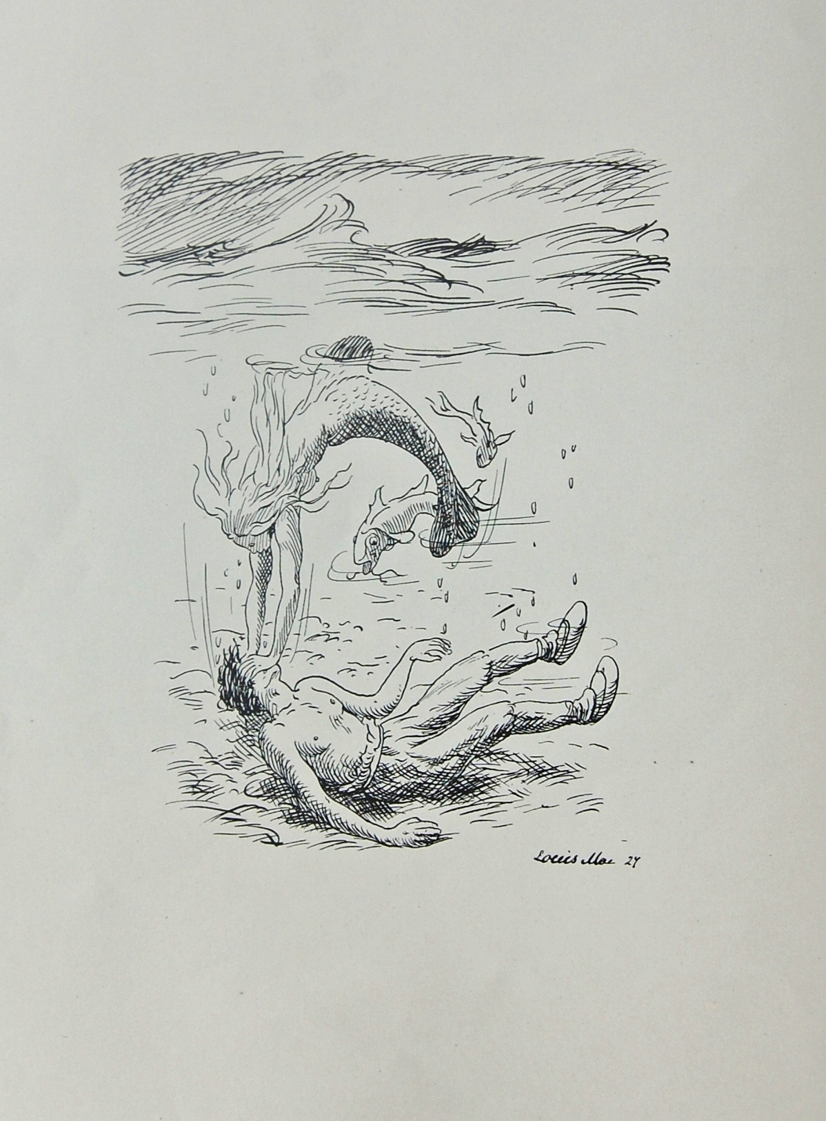 Fimbulvetr Mermaid Drowning a Man