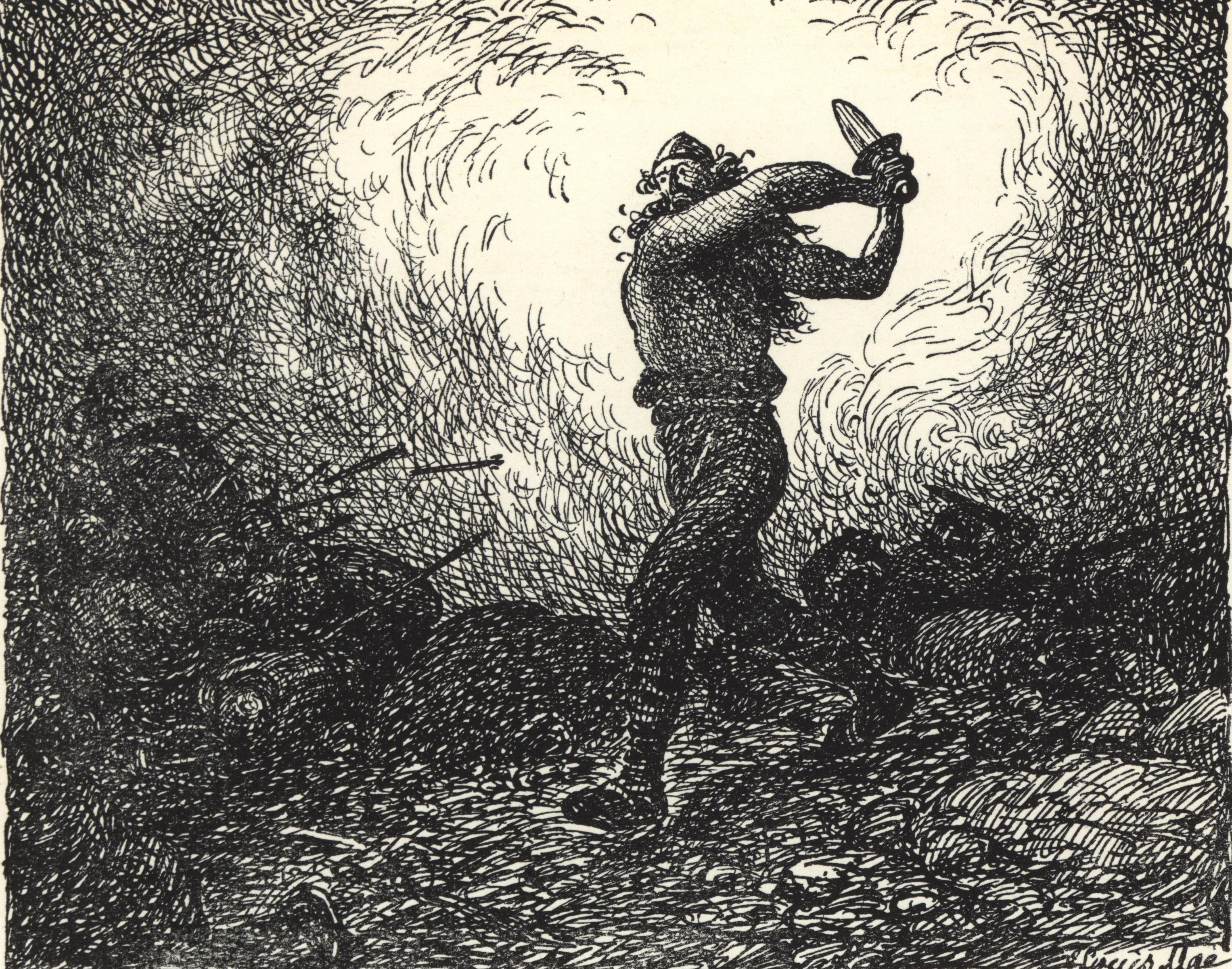 Starkaðr Fighting at the Battle of                                Brávellir