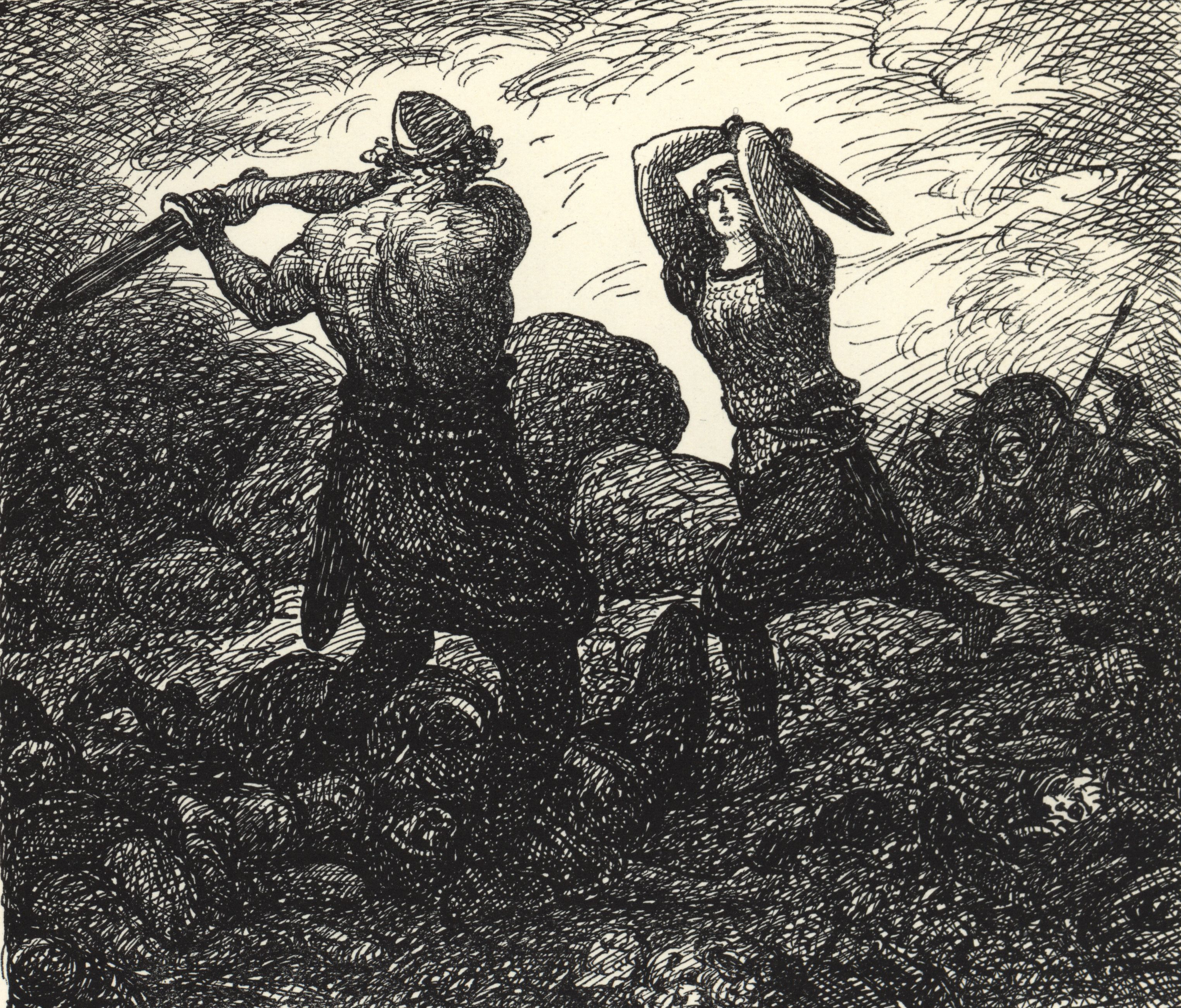 Starkaðr Fighting with Vébjörg