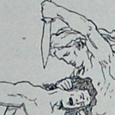Digital image of the illustration on page 16 of Karl                             Gjellerup's 1895 edition of the Poetic Edda, entitled Den Ældre Eddas Gudesange.