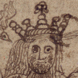 Digital image of the illustration on f.4v. of the Lbs 1341 8vo manuscript.