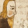 Digital image of the illustration on the lower half of f. 35r. of the                     AM 738 4to                     manuscript.
