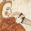 Digital image of the illustration on f.38v. of the AM 738 4to manuscript.