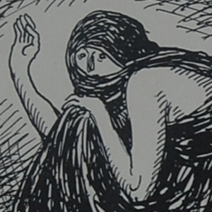 Digital image of the illustration on page [24] of Louis                             Moe's Ragnarok: En Billeddigtning.