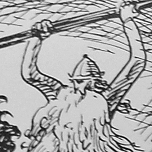 Óðinn Attacking Fenrir
